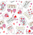 seamless pattern with cute jam jar perfect for vector image