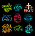 set happy easter vector image