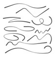 set of hand drawn underline felt tip brush vector image