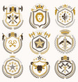 set of luxury heraldic templates collection of vector image vector image