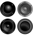 set of sound speakers vector image vector image