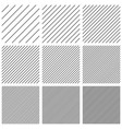set square patterns with diagonal lines stripes vector image