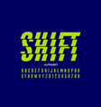 shifted style modern font vector image vector image