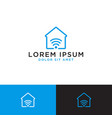 smart home logo design template vector image vector image