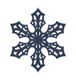 snowflake sign black snowflake icon isolated on vector image vector image