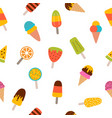 summer ice cream seamless pattern cute cartoon vector image vector image