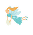 tooth fairy isolated on white vector image vector image