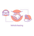 vehicle leasing concept icon vector image vector image