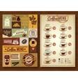 Vintage Coffee Menu 2 banners Board vector image vector image