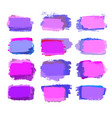 violet and pink brush strokes vector image