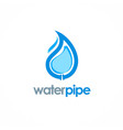 water drop pipe logo vector image