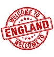 welcome to england red round vintage stamp vector image vector image