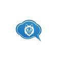 wolf head and face looking in front in a chat vector image vector image