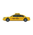 yellow taxi car side view public transportation vector image vector image