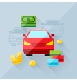 concept of auto loan in flat design style vector image