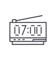 digital clock line icon sign vector image