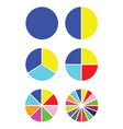 pie chart set - diagrams for infographics vector image