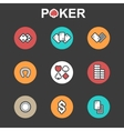 set of flat casino icons vector image
