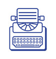 line retro typewriter equipment with business vector image