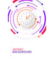abstract background with color circle line on vector image vector image