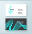 abstract blend wave symbol business card vector image vector image