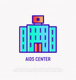 aids center thin line icon vector image
