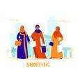 arabs women shopping composition vector image