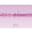 Berlin skyline in purple radiant orchid vector image vector image
