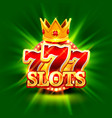 big win slots 777 banner casino background vector image vector image
