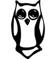 black and white vintage owl fairy vector image