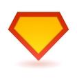 Bright superhero symbol vector image vector image