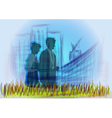 business people walking vector image vector image