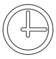 clock black color icon vector image vector image