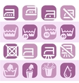 color washing icons set vector image vector image
