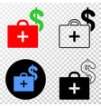composition of gradiented dotted medical business vector image vector image