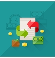 concept refinance in flat design style vector image