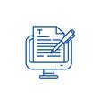 copywriting line icon concept copywriting flat vector image vector image