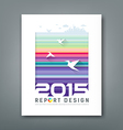 Cover Annual report flying birds silhouette buildi vector image vector image