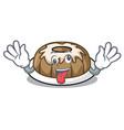 crazy bundt cake mascot cartoon vector image vector image