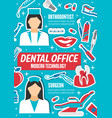 dentists orthodontist and surgeon dental clinic vector image