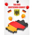 deutschen einheit concept background isometric vector image vector image