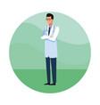 doctor avatar cartoon job worker vector image vector image