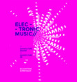 electronic music poster vector image vector image
