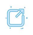 exit icon design vector image
