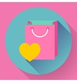 Flat-design shopping bag icon vector image vector image