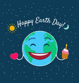 happy earth day greeting card vector image vector image