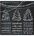 holiday christmas doodles setchalk vector image vector image