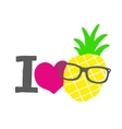 I love pineapple print vector image