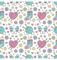 knitting sewing seamless pattern cute vector image vector image