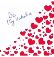 Lettering Be My Valentine with hearts vector image